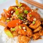 Easy Satay chicken stirfry