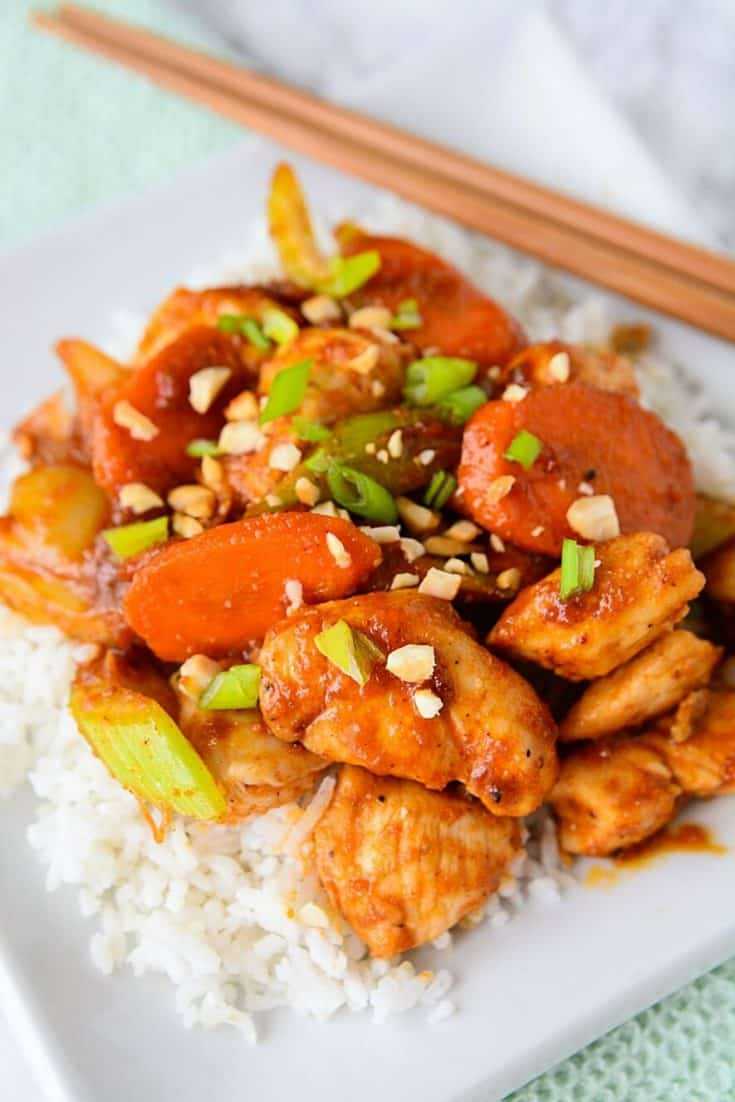 Easy Satay Chicken Stirfry Merry About Town