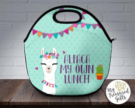 alpaca lunch bag