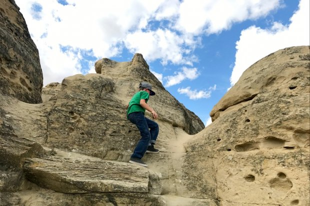 Climbing on the Hoodoos