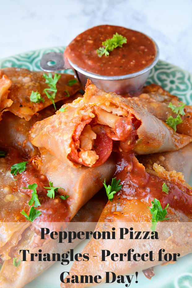 Pepperoni Pizza Triangles - Perfect for Game Day!