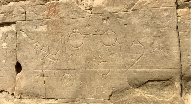 petroglyphs at Writing On Stone Provincial Park