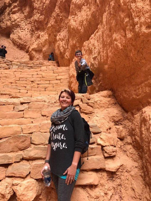 Evan and I exploring Bryce Canyon