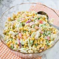 Corn and Seafood Pasta Salad Recipe