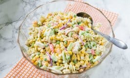 Seafood and Corn Pasta Salad Recipe