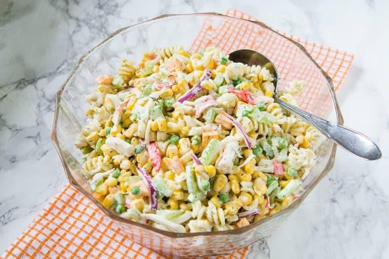 Seafood Corn Pasta Salad10
