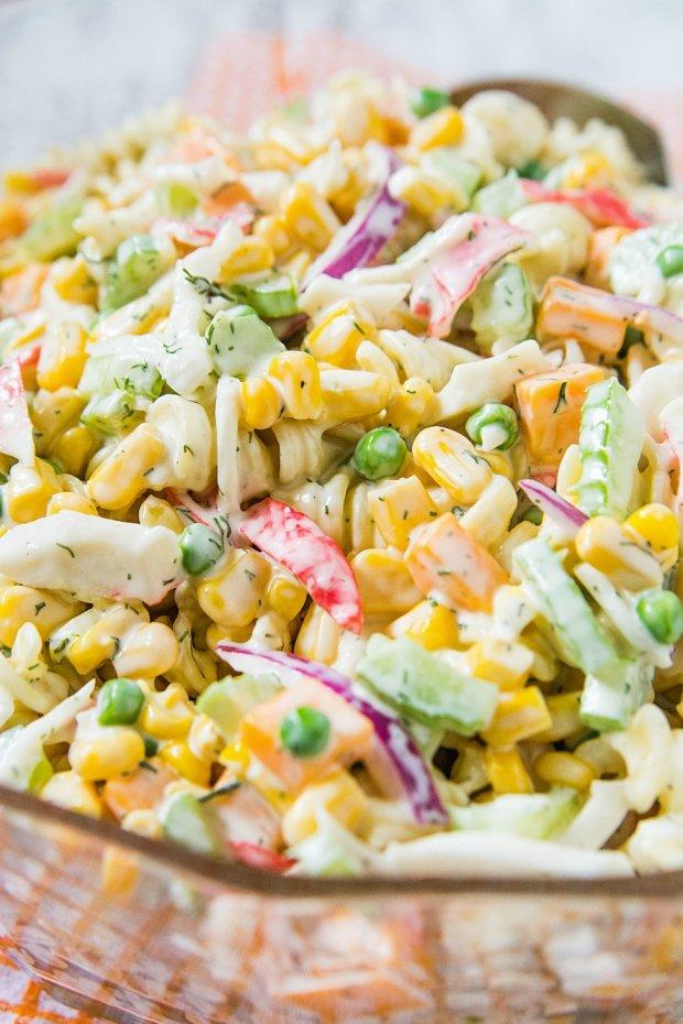 Seafood Corn Pasta Salad