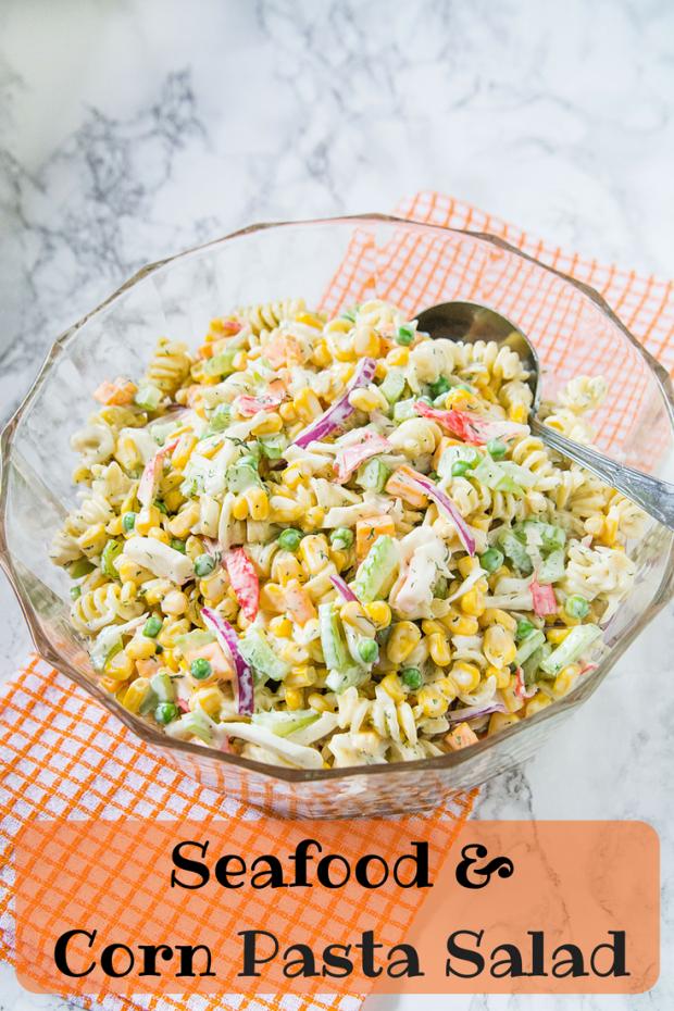 Seafood & CornPasta Salad