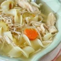 Simple Slow Cooker Turkey Noodle Soup