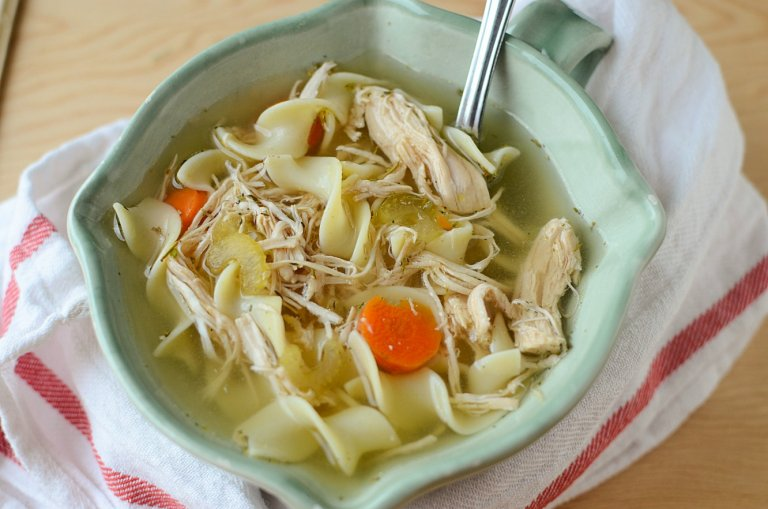 Simple Crock Pot Turkey Noodle Soup