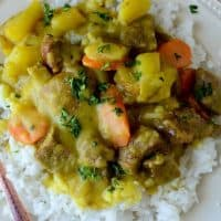 CrockPot Coconut Curry Beef Stew