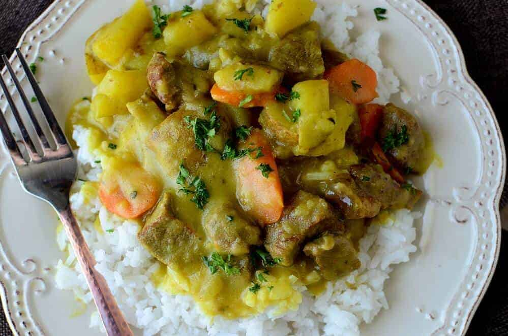 Crock Pot Coconut Curry Beef Stew Recipe