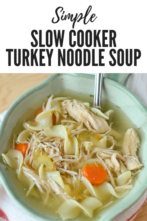 crock pot turkey noodle soup