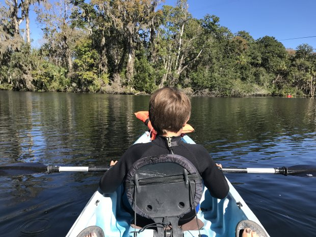 Kayaking on the Chassahowitzka