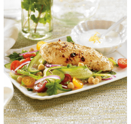 Greek Chicken and ribbon salad