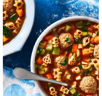 Spinach and Meatball Soup