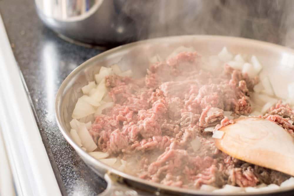 Cooking hamburger meat