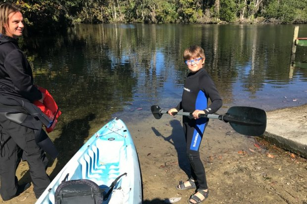 Getting ready to kayak the Chassahowitzka