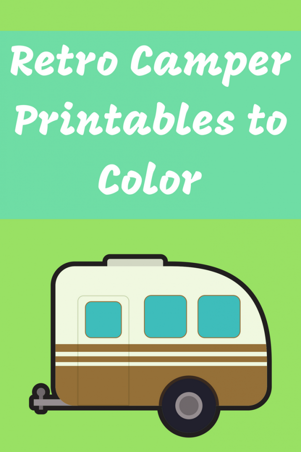Retro Camper Printables to Color