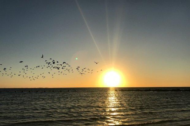 Sunset at Fort Island Gulf Beach