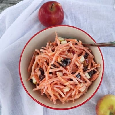 Carrot Raisin Salad with Apples