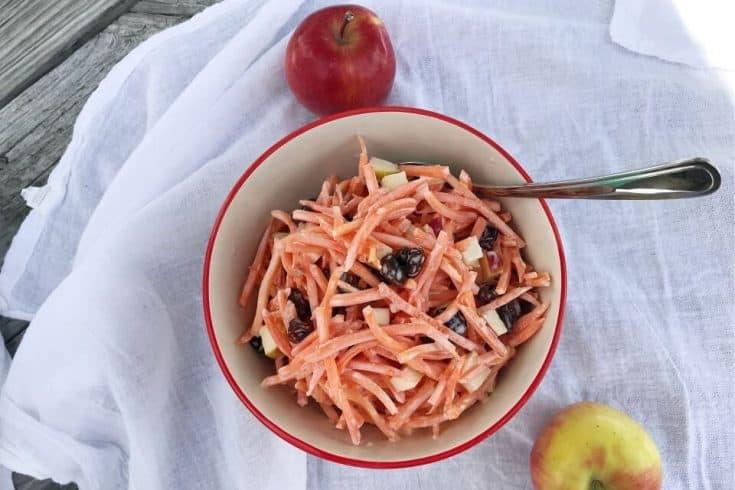 Carrot Raisin Salad with Apples