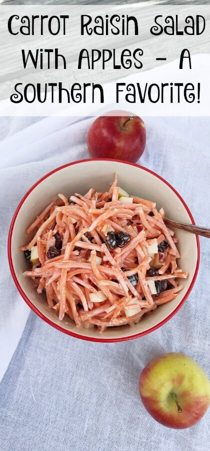 Carrot Raisin Salad with Apples - A Southern Favorite!