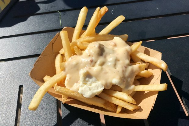 Poutine at the Canada Pavilion in Epcot
