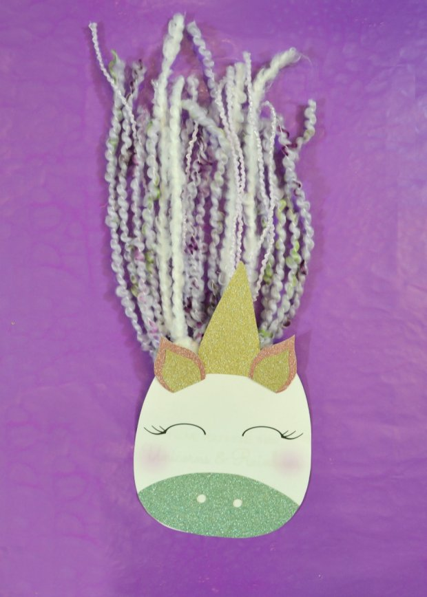 Adding the ears and horn to DIY Unicorn Card