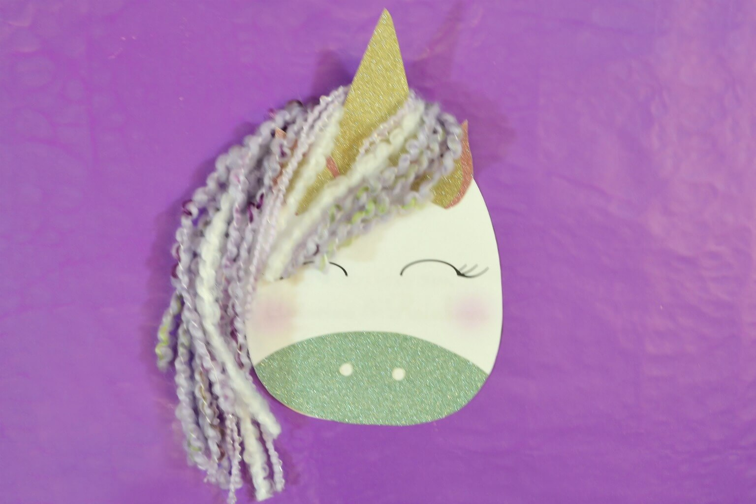 Adorable Unicorn DIY Mother's Day Card
