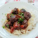 CrockPot Spicy Cherry Meatballs