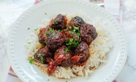 Spicy Cherry CrockPot Meatballs