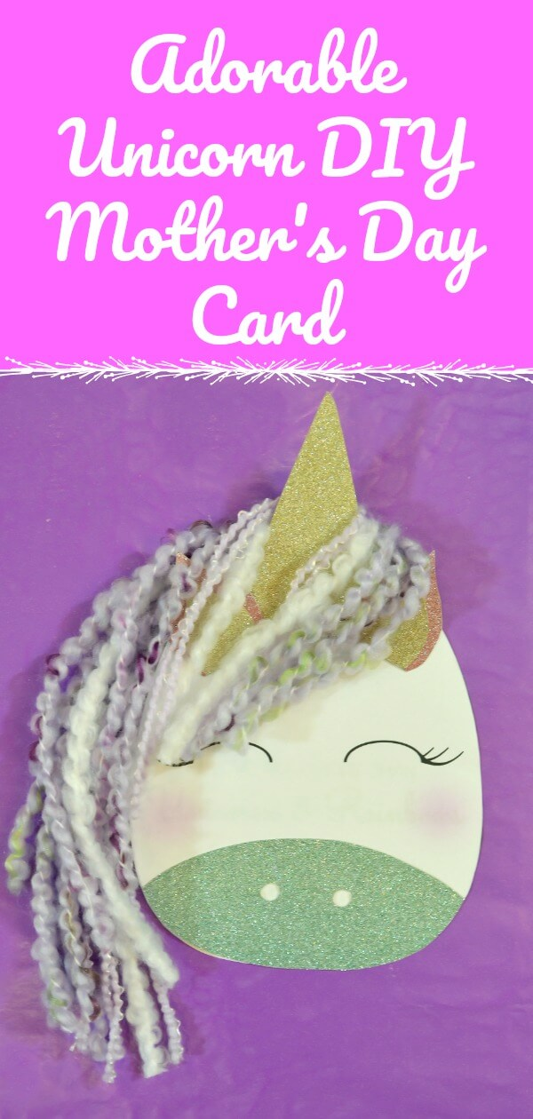 DIY Mother's Day Card that Looks Like a Unicorn