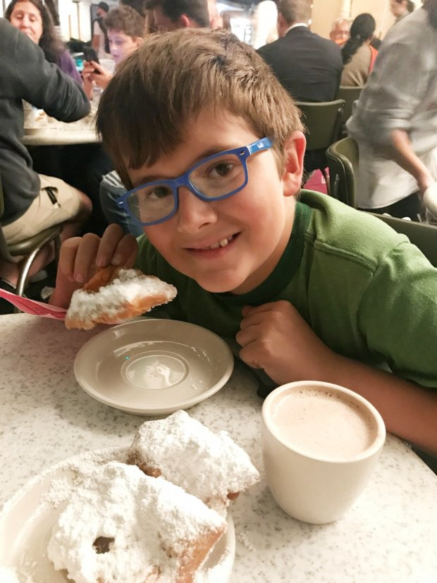 Enjoying Beignets in New Orleans