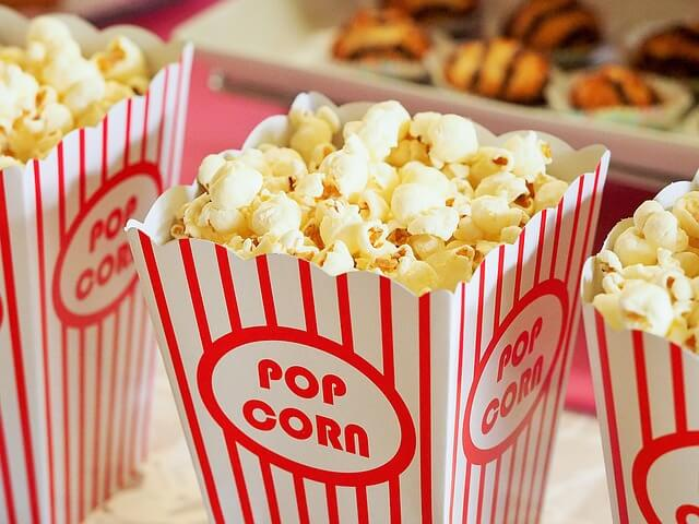 popcorn for an outdoor movie