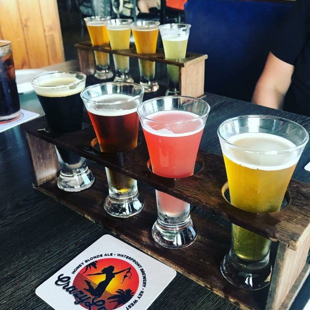Beer flight in key west