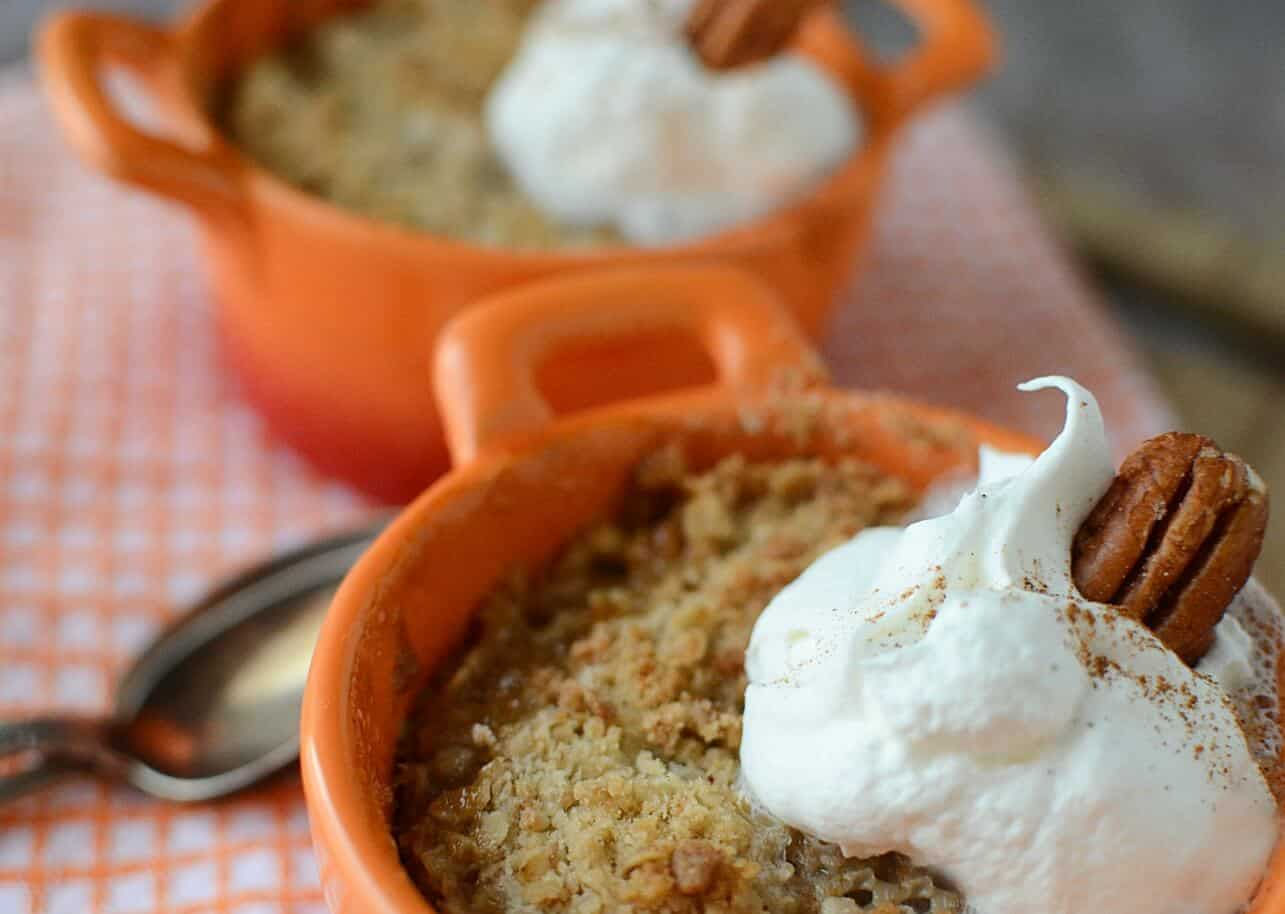 Butter Pecan Peach Crumble Minis