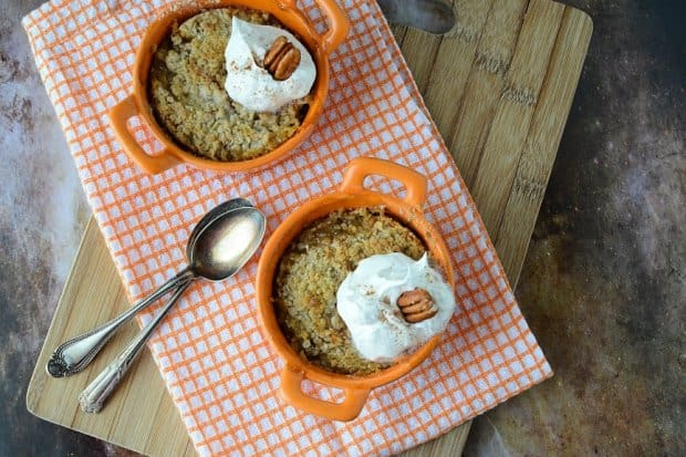 Individual Butter Pecan Peach Crumble