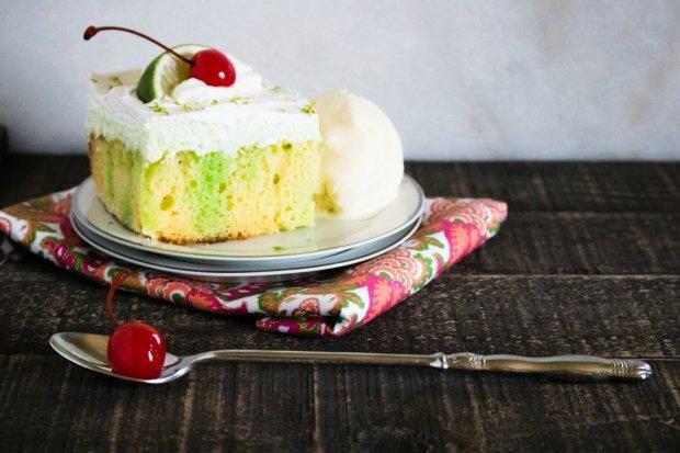 Creamy Lime Poke Cake - Summer Cake