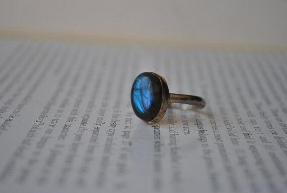Vintage Sterling Labradorite Ring