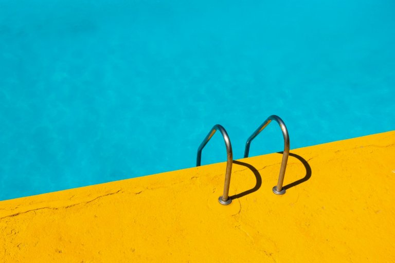 Summer Fashion Accessories - Brightly colored pool