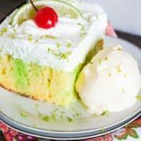 Creamy Lime Poke Cake