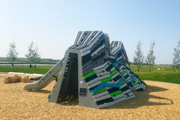 Back of the Mountain Climber at Ralph Klein Park