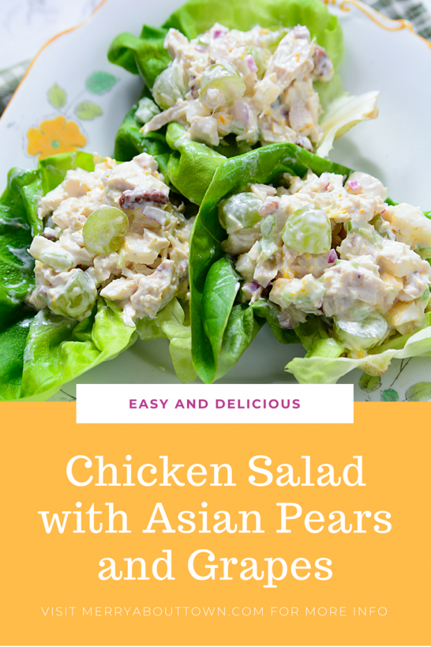 Easy and delicious Chicken Salad with grapes and Asian pear