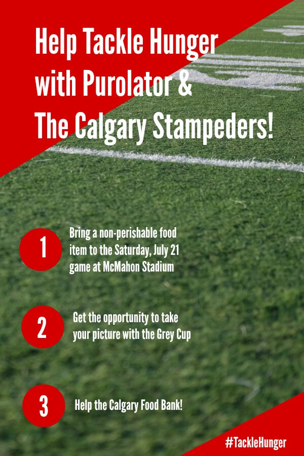 Tackle Hunger with the Calgary Stampeders