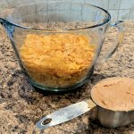 Measure out your peanut butter and corn flakes