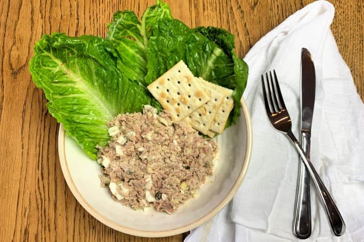 Tuna Salad with Eggs - A Childhood Favorite - Merry About Town