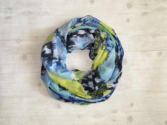 Blue infinity scarf