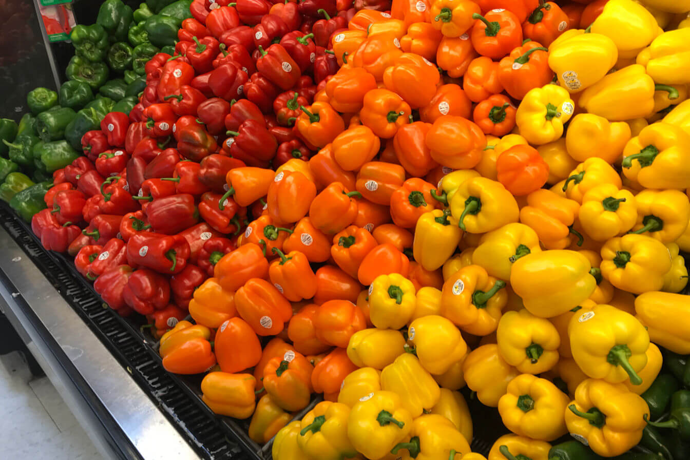 Eat the rainbow - colorful peppers