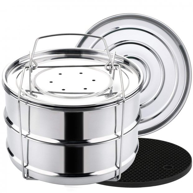 stackable steamer insert pans